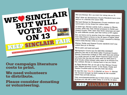 Keep Sinclair Fair, issue 13 ad